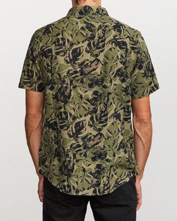 1 Leaf Camo Button-Up Shirt Black M512VRLC RVCA