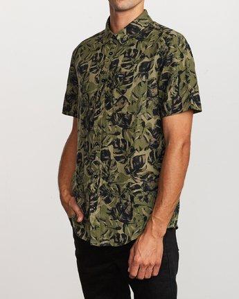 2 Leaf Camo Button-Up Shirt Black M512VRLC RVCA