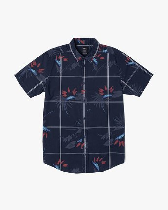 2 FILLMORE BUTTON-UP SHIRT Blue M5131RFL RVCA