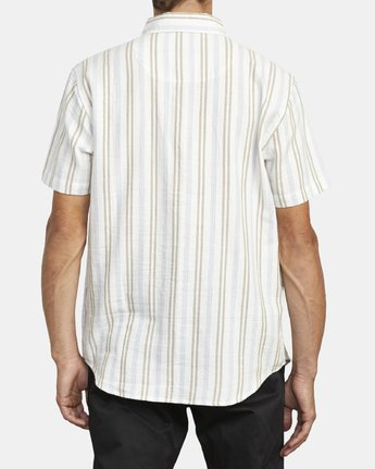 1 DISPLACED STRIPE SHORT SLEEVE SHIRT White M5133RDS RVCA