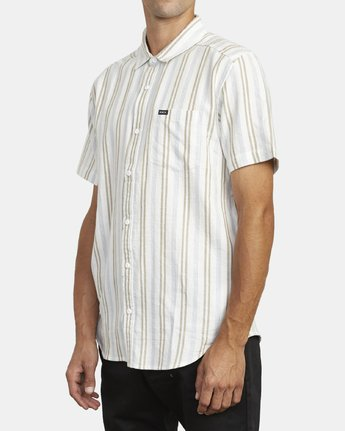 2 DISPLACED STRIPE SHORT SLEEVE SHIRT White M5133RDS RVCA