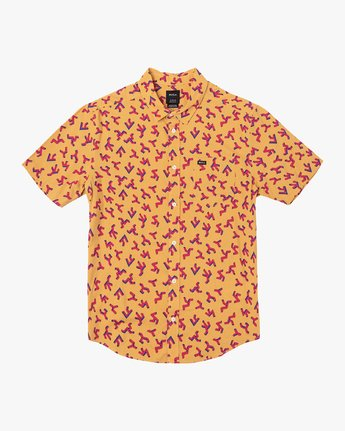 0 Slappy Printed Button-Up Shirt Orange M513VRSP RVCA