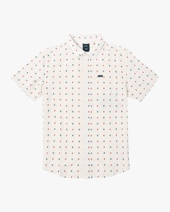 0 Aye Kat Button-Up Shirt White M514TRAK RVCA