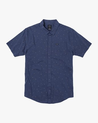 0 VA Little Buds Button-Up Shirt Blue M514VRVL RVCA
