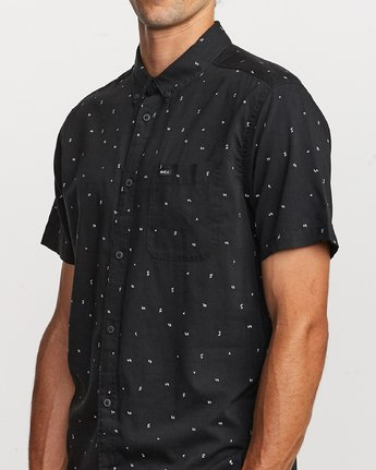 4 VA Little Buds Button-Up Shirt Black M514VRVL RVCA