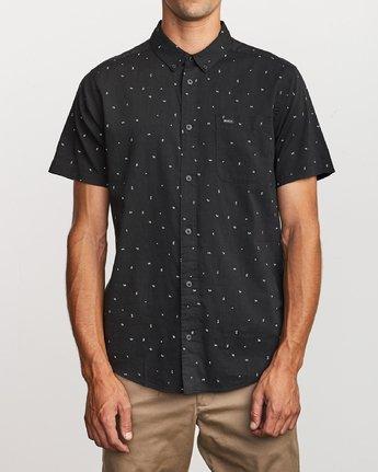 0 VA Little Buds Button-Up Shirt Black M514VRVL RVCA