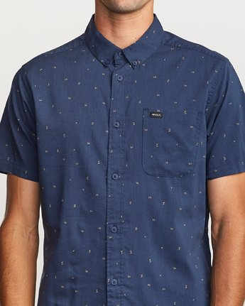 4 VA Little Buds Button-Up Shirt Blue M514VRVL RVCA