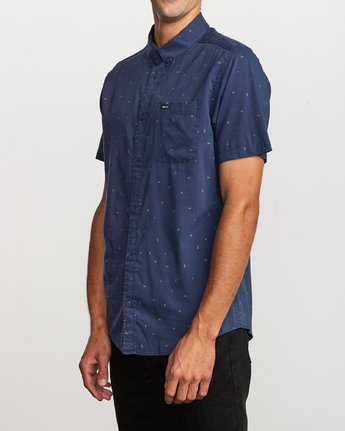 2 VA Little Buds Button-Up Shirt Blue M514VRVL RVCA