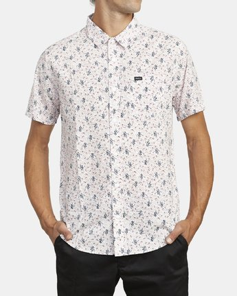 2 MONKBERRY FLORAL SHORT SLEEVE SHIRT White M5163RMB RVCA