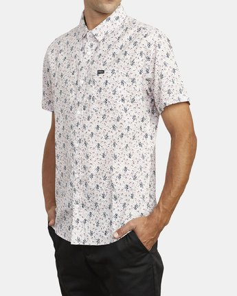 4 MONKBERRY FLORAL SHORT SLEEVE SHIRT White M5163RMB RVCA