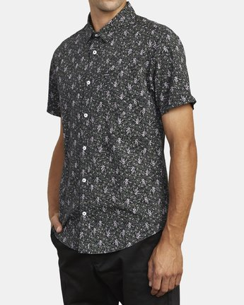 2 MONKBERRY FLORAL SHORT SLEEVE SHIRT Black M5163RMB RVCA