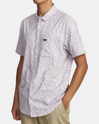 2 OBLOW WAVES SHORT SLEEVE SHIRT Blue M5172ROW RVCA