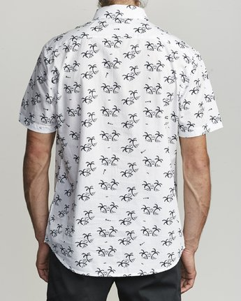 2 EASY PALMS BUTTON-UP SHIRT White M5191REP RVCA