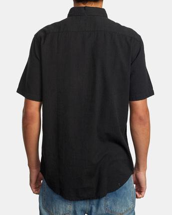 2 ENDLESS SEERSUCKER SHORT SLEEVE SHIRT Black M5192RES RVCA