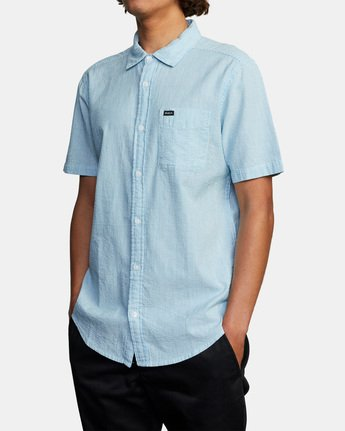 3 ENDLESS SEERSUCKER SHORT SLEEVE SHIRT Brown M5192RES RVCA