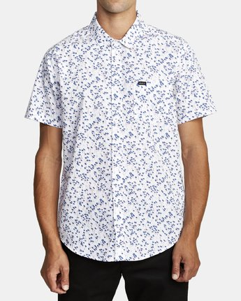 0 ETERNAL SHORT SLEEVE SHIRT White M5202RET RVCA