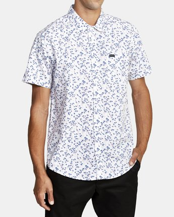 3 ETERNAL SHORT SLEEVE SHIRT White M5202RET RVCA