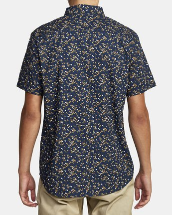 2 ETERNAL SHORT SLEEVE SHIRT Blue M5202RET RVCA
