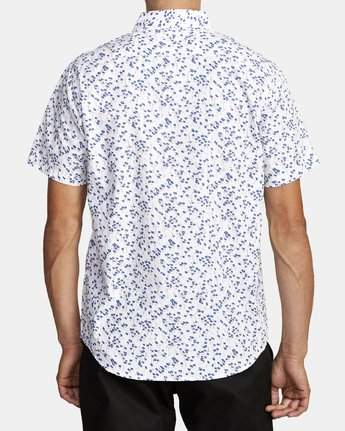 5 ETERNAL SHORT SLEEVE SHIRT White M5202RET RVCA