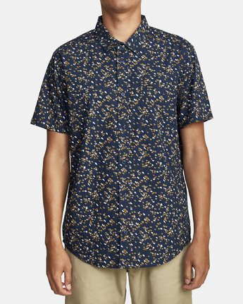 4 ETERNAL SHORT SLEEVE SHIRT Blue M5202RET RVCA
