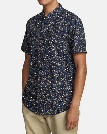 7 ETERNAL SHORT SLEEVE SHIRT Blue M5202RET RVCA