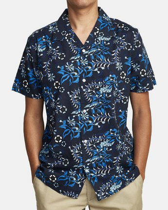 1 TROPICAL DMOTE SHORT SLEEVE SHIRT Blue M5202RTD RVCA