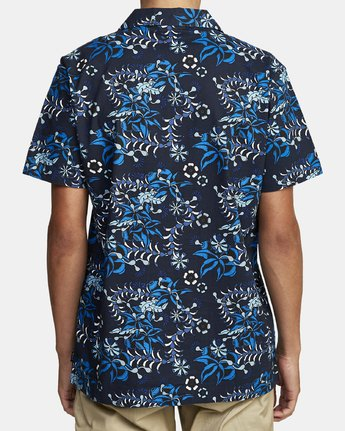 6 TROPICAL DMOTE SHORT SLEEVE SHIRT Blue M5202RTD RVCA