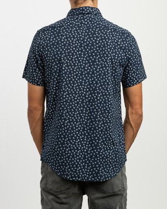 3 Ficus Floral Button-Up Shirt Blue M520TRBF RVCA