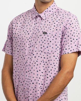 2 Shake Along Button-Up Shirt Purple M521TRSA RVCA