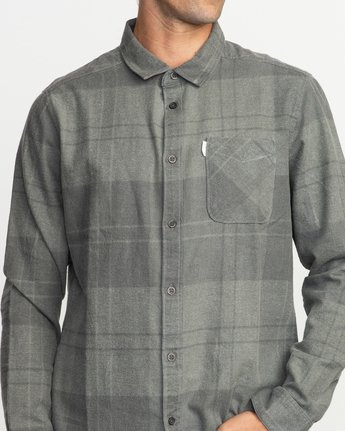 4 Good Stuff Neutral Flannel Black M525QRGS RVCA