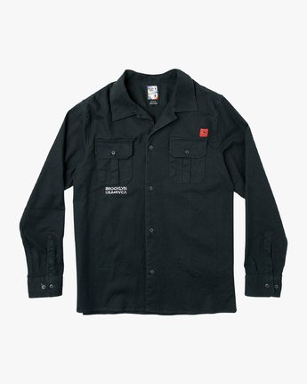0 Smith Street Long Sleeve Shirt Black M550VRSS RVCA