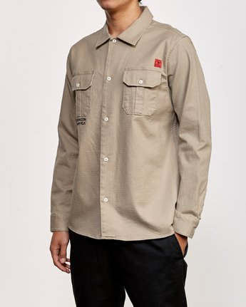 2 Smith Street Long Sleeve Shirt Grey M550VRSS RVCA