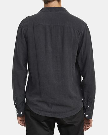 2 BEAT LONG SLEEVE SHIRT Black M5513RBL RVCA