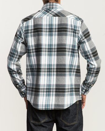3 Ludlow Plaid Flannel White M551QRLU RVCA
