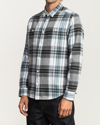 2 Ludlow Plaid Flannel White M551QRLU RVCA