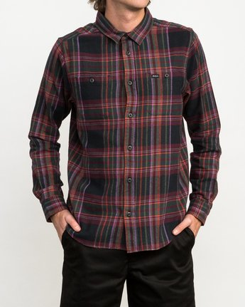 1 Ludlow Plaid Flannel Black M551QRLU RVCA