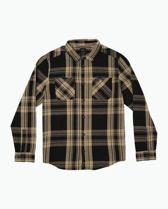 0 Wanted Lightweight Plaid Flannel Black M551SRWA RVCA