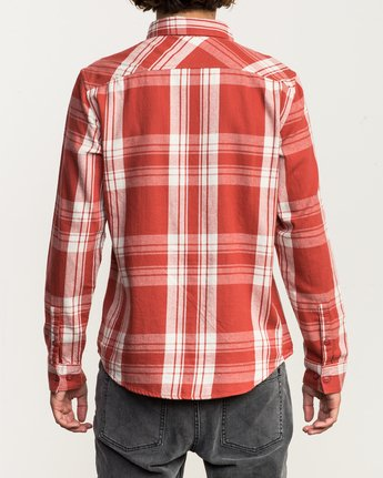 3 Wanted Lightweight Plaid Flannel Red M551SRWA RVCA