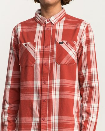 4 Wanted Lightweight Plaid Flannel Red M551SRWA RVCA