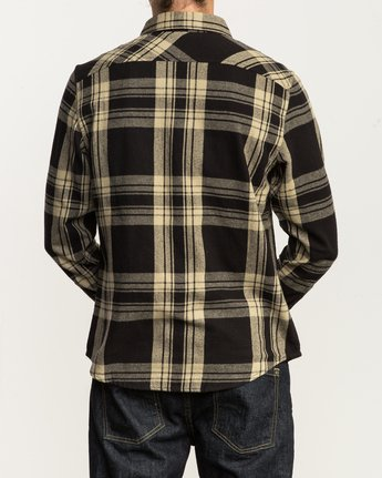 3 Wanted Lightweight Plaid Flannel Black M551SRWA RVCA