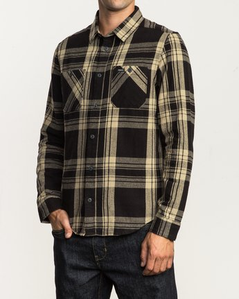 2 Wanted Lightweight Plaid Flannel Black M551SRWA RVCA