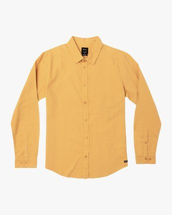 3 Crushed Washed Long Sleeve Shirt  M551VRCR RVCA