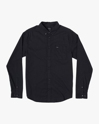 5 That'll Do Stretch Long Sleeve Shirt Black M551VRTD RVCA