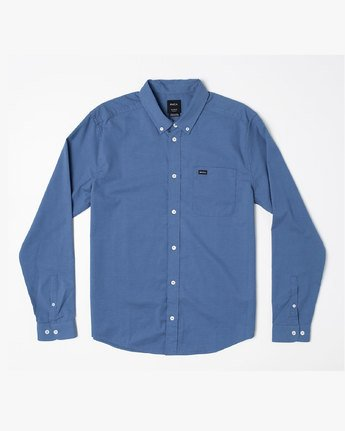 1 THATLL DO STRETCH LONG SLEEVE SHIRT Blue M551VRTD RVCA
