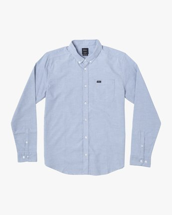 8 THATLL DO STRETCH LONG SLEEVE SHIRT Blue M551VRTD RVCA