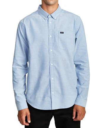 0 That'll Do Stretch Long Sleeve Shirt Blue M551VRTD RVCA