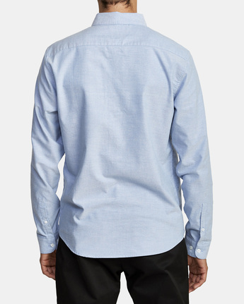 1 THAT'LL DO STRETCH LONG SLEEVE SHIRT Blue M551VRTD RVCA