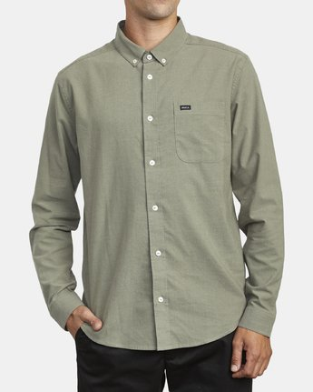1 THATLL DO STRETCH LONG SLEEVE SHIRT Green M551VRTD RVCA