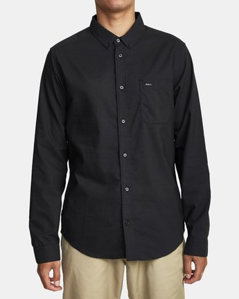 0 That'll Do Stretch Long Sleeve Shirt Black M551VRTD RVCA