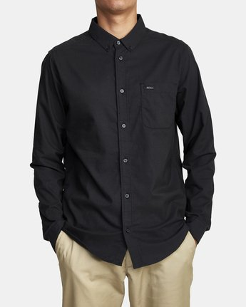 2 That'll Do Stretch Long Sleeve Shirt Black M551VRTD RVCA